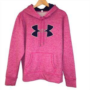 Under Armour Women's Pink Sweatshirt Hoodie Size M